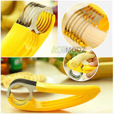 Stainless Steel Kitchen Tool Banana Slicer Cutter Fruit  Vegetable Scissors Cut