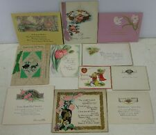 11 1920's Greeting Cards Valentine New Years Thanksgiving Easter St Patrick's