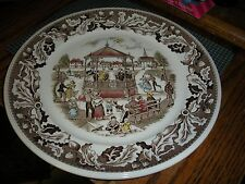 Vintage Johnson Brothers Dinner Plate (s) Neighbors Band Concert Made in England