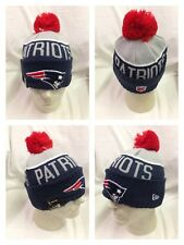 NFL New England Patriots 2015 On Field Player Coach Sideline Sport Knit Hat Pom