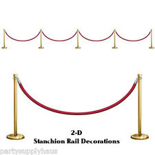 NYE RED ROPE Hollywood Award STANCHION Wall PROPS Party Decoration