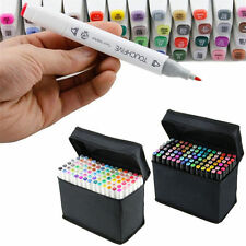 168 Color Touch Five Art Sketch Twin Marker Pens Broad Fine Point Graphic