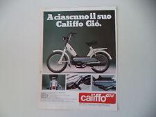 advertising Pubblicità 1981 ATALA CALIFFO GIO' 50 RIZZATO