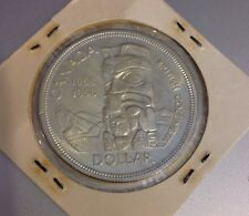 1858-1958 BRITISH COLUMBIA TOTEM POLE CANADA DOLLAR SILVER COIN