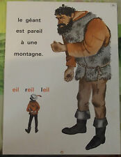 Ancienne Affiche Élocution Lecture MDI N°53/54 Le Géant est Pareil, Travail