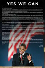 BARACK OBAMA 2008 Victory Speech at Grant Park, Chicago Original Wall POSTER