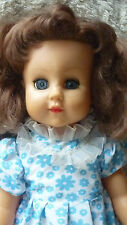 VINTAGE  LARGE DOLL ORIGINAL CLOTHES & SHOES BRUNETTE RODDY ? DOLL 23 INCH