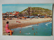 East Hill Lift & Fishing Fleet Hastings Old Postcard