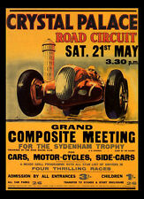 -A3 Size- Crystal Palace 1938  - Motor Car Racing Vintage Poster #09