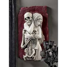 Beauty Embrace Death Wall Sculpture Gothic Nude Female and Skeleton Halloween