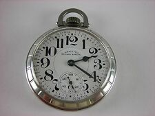 Antique all original 16s Hamilton 992B Railway Special pocket watch made 1967