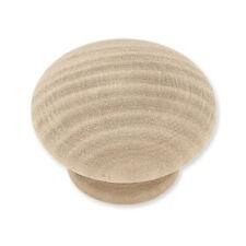 """P10513C-BIR  Birch Wood 1 1/2"""" Round Cabinet Drawer Knob"""