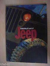 Celebrating 60 years of Jeep Prospekt / Brochure / Depliant, GB