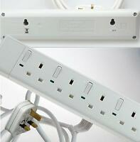 4 Gang Individually Switched Multi Socket Extension Lead BS1363/A CE Approved
