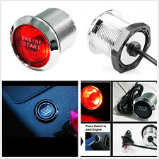 Keyless Engine Ignition LED Light Starter Power Switch Push Start/ stop buttons