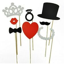 PHOTO PROPS 8 PIECES PARTY PHOTOGRAPHY SUPPLIES UK FIRST CLASS WEDDING BRIDE