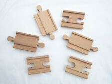 Wooden Thomas Train Track Adapter Female and male  Fits Thomas Brio.. 3 Pairs