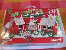 Children's Christmas Snowman's Express Train Craft Set Brand New in Box