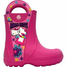 NEW!!! Crocs - Hello Kitty candy rain boot C7