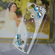 3D Luxury diamond dragonfly clear cover case fr Sony Ericsson lt18i Xperia Arc s