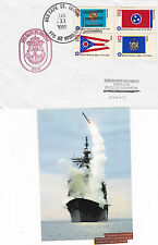 USS CAPE ST GEORGE CG 71 CRUISER A SHIPS CACHED COVER & SM MAG PIC