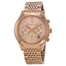 BRAND NEW MICHAEL KORS MK5775 BROOKTON ROSE GOLD TONE CHRONOGRAPH WOMEN'S WATCH