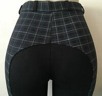LADIES BLACK CHECK HORSE RIDING JODHPURS/JODPHURS ALL SIZES