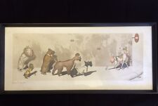 "Boris O'Klein Dirty Dogs Hand Coloured Pencil Signed Etching ""Sens Interdit"""