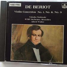 De Beriot - Violin Concertos 1, 8, 9 - Walter. Nishizaki - Marco Polo - Japan
