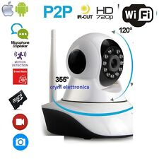 TELECAMERA IP P2P HD 720P CAMERA INFRAROSSI WIRELESS WI-FI REGISTRA MICRO SD