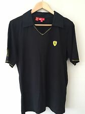 Hombre Puma Ferrari Diseñador Camiseta Negro Tamaño Pequeño