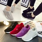Women Running Trainers Breathable Lace Up Sneakers Athletic Sports Wedge Shoes