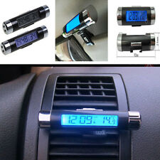 New 1 Pcs Car Air Vent Clip-on Digital LED Backlight Thermometer Celsius Clock