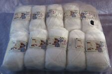 10 Skeins Labelle 4 Ply Knitted Worsted Weight Yarn Shiny 100% Poly No Dye Lot!