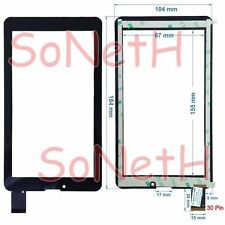 "Vetro Touch screen Digitizer 7,0"" Miia TAB MT-733GR MT-733GW 3G Tablet PC Nero"