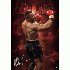 MIKE TYSON SIGNED AND FRAMED LIMITED EDITION FEROCIOUS PRINT ALI MAYWEATHER
