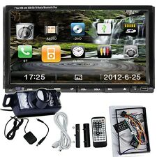 "Camera+7"" HD Touch 2DIN Car DVD MP3 Player Stereo Radio TV Bluetooth iPod USB SD"