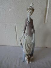 "LLADRO ""LADY WITH DOG AND UMBRELLA"