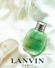 PUBLICITE ADVERTISING 056  2003  Lanvin  parfum homme Vetyver