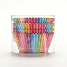 100pcs Mini Rainbow Paper Baking Cups Cupcake Liners Muffin Cupcake Paper Cases