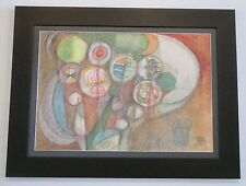 MICHAEL DORMER (b.1935) CALIFORNIA VINTAGE MID CENTURY CUBISM ABSTRACT PAINTING