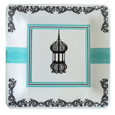 Eid or Ramadan Dessert Plate with Lantern and Blue Design (Pack of 10)