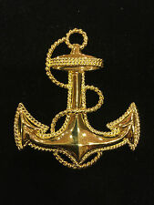 ST. JOHN Jewelry GOLD ANCHOR Pin/Brooch