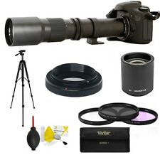 HD TELEPHOTO ZOOM LENS 500mm -1000mm + TRIPOD FOR SONY ALPHA A100 A200 A300