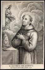 santino incisione 1800 B.GIACOMO DEGLI STREPA DA LEOPOLI
