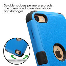 iPod Touch 5th / 6th Gen - BLUE Armor Impact Hybrid Hard & Soft Rubber Skin Case