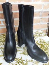 Beautiful Mare Italian Black Leather Boots Size Euro 39.5 US 9 Never Worn