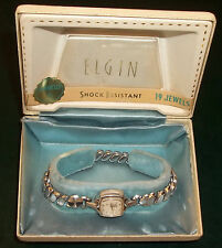 VINTAGE ELGIN WATCH - LADIES - 10K GOLD PLATE - 19 JEWELS - 1959 - ORIGINAL BOX