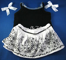 RETIRED BLACK SEQUIN TANK & PEASANT SKIRT BUILD-A-BEAR TEDDY CLOTHES OUTFIT