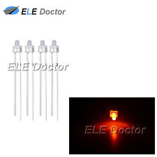 100pcs 2mm Diffused White-Orange Light DIP Round Top LED Diodes High Quality